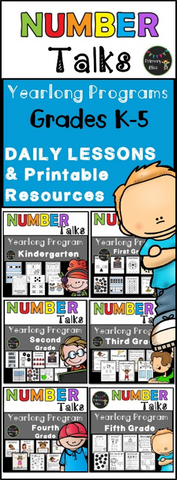 Number Talk Hand Signals - Yearlong Set