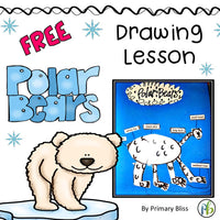Polar Bear Drawing Lesson (with polar bear facts included)