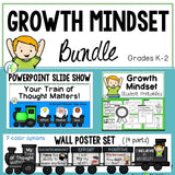 Growth Mindset Bundle-PowerPoint Slide Show,  Posters, Lessons & Activities (K-2)