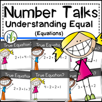 Number Talks - Meaning of Equal (DIGITAL and Printable versions)