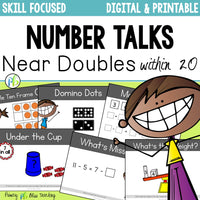 Number Talks - Near Doubles Strategy Focus within 20 (Digital & Printable)