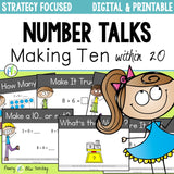 Number Talks - Making Ten Strategy Focus within 20 (Digital & Printable)