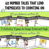 Number Talks ~ Counting On Strategy within Sums to 20 (DIGITAL and Printable)
