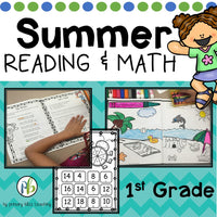 Summer Review No Prep 1st Grade Reading And Math