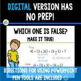 Fifth Grade Number Talks -  (Digital and Printable) - Yearlong Program