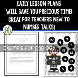 Second Grade Number Talks (DIGITAL and Printable) - Yearlong Program