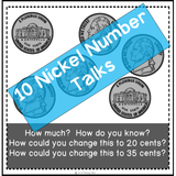 number talks using nickels