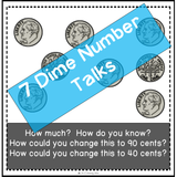 number talks using dimes