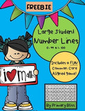 Large Student Number Lines With (Common Core Aligned) Game