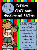 Simple And Effective Classroom Management System Grades K-3