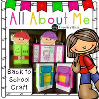 All About Me Bag Back To School Activity