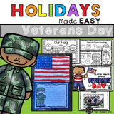 Veterans Day Mini Unit Reading Writing & Art Activities