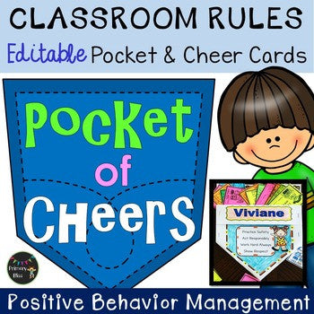Classroom Rules Behavior Awards And Pocket Holder Editable