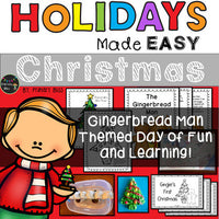 Christmas With The Gingerbread Man Holidays Made Easy First And Second Grade