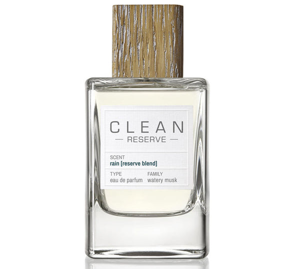 Sustainable Rain Reserve perfume from Clean