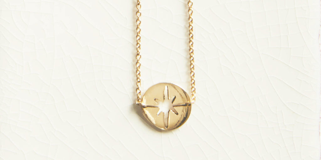 Ethical jewellery Stella Polaris necklace from Kind Jewellery