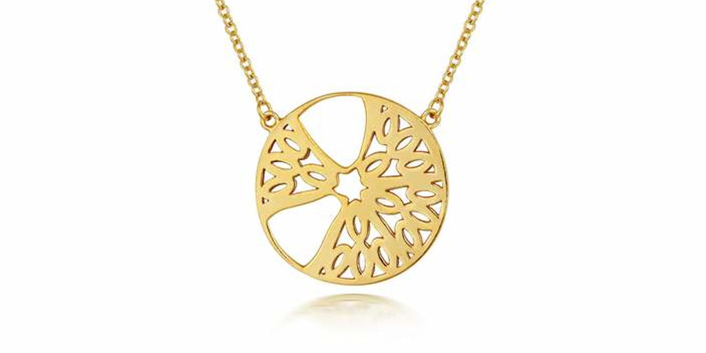 Ethical jewellery Little By LIttle Seville Segment Pendant Necklace