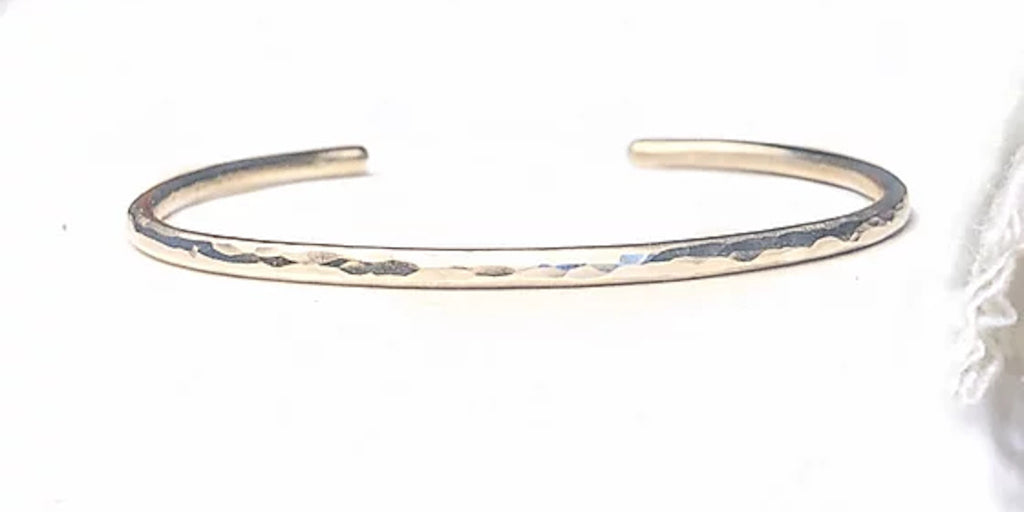 Ethical jewellery Hammered Silver Cuff from Sofias Connection