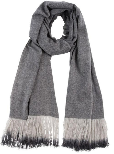 Ombre fringe ecofriendly scarf from Black & Brown
