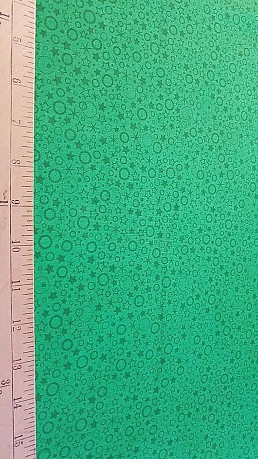 Patrick Lose Blender: Green Stars- Cotton Woven