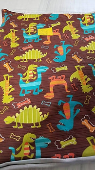 Remnant #0318-10 Cotton/ Lycra Knit Dino 1/2y