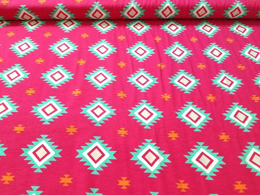 Cotton/ Lycra Knit- Aztec Pink