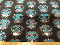 Cotton/ Lycra European Import: Sugar Skulls