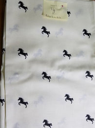 Remnant #0318-11 Cotton Interlock T Shirt KNIT Horses 2y