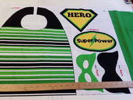 Project Panel- Super Hero Cape Green- Cotton Woven