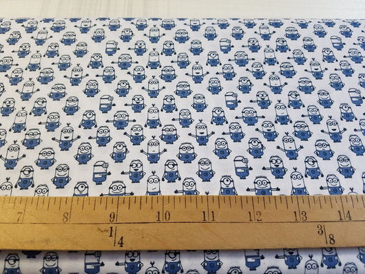 Minions: Graphic on White- Cotton Woven
