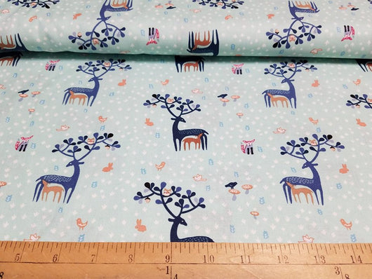 Deer and Fawn- Cotton Woven