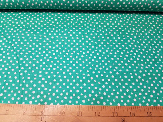 Green Confetti Dot- Cotton Woven