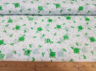 Green Floral Eyelet- Cotton Woven