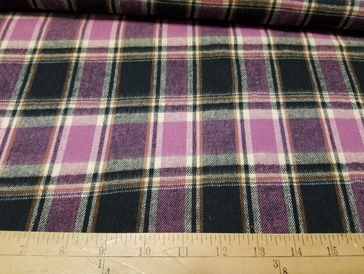 Purple Plaid- Shirting Flannel