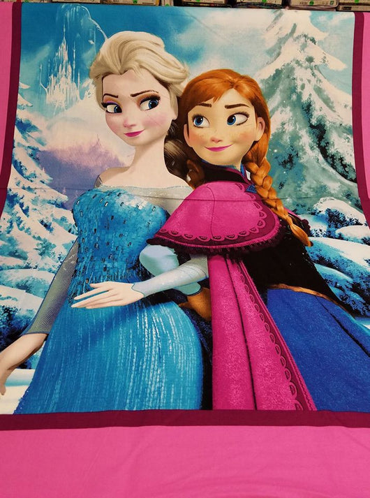 Frozen Sisters Panel- Cotton Woven