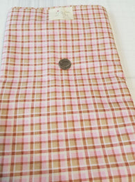 Remnant #212- Cotton Woven Pink Plaid 2 5/8y