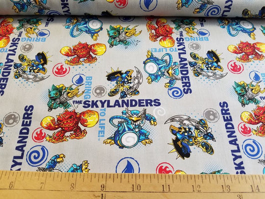 Skylanders: To Life on Grey- Cotton Woven
