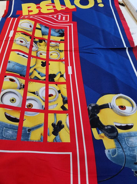 Minions: Bello Panel- Cotton Woven