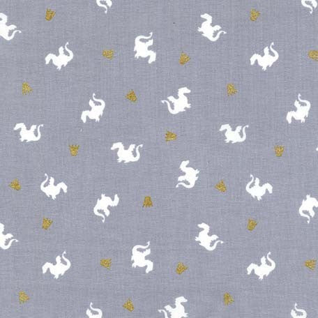 Magic Metallic Baby Dragon Grey by Sarah Jane- Cotton Woven