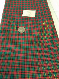 Remnant #292- Cotton Woven Shirting Tartan 1 3/4y