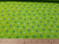 Swirls on Green- Cotton Woven