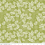Fantine: Floral Tonal Green- Cotton Woven