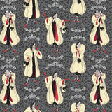 Disney Villains: Cruella De Vil Carbon- Cotton Woven