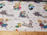 Jetsons: Family Love Grey- Cotton Woven