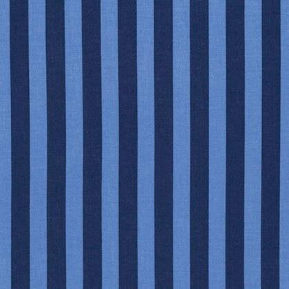Tabby Road by Tula Pink:  Blueberry Tent Stripe- Cotton Woven
