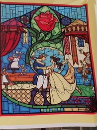 Beauty and the Beast Panel- Cotton Woven