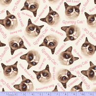 Grumpy Cat: Grumpy Heads Pink - Flannel