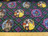 Beauty and the Beast Stained Glass Hatch- Cotton Woven