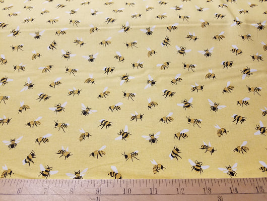 Bees on Yellow - Cotton Woven