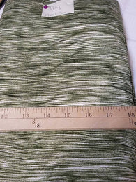 Remnant #1217-36: Double Brushed Poly Army Green Stripe 1 1/2y